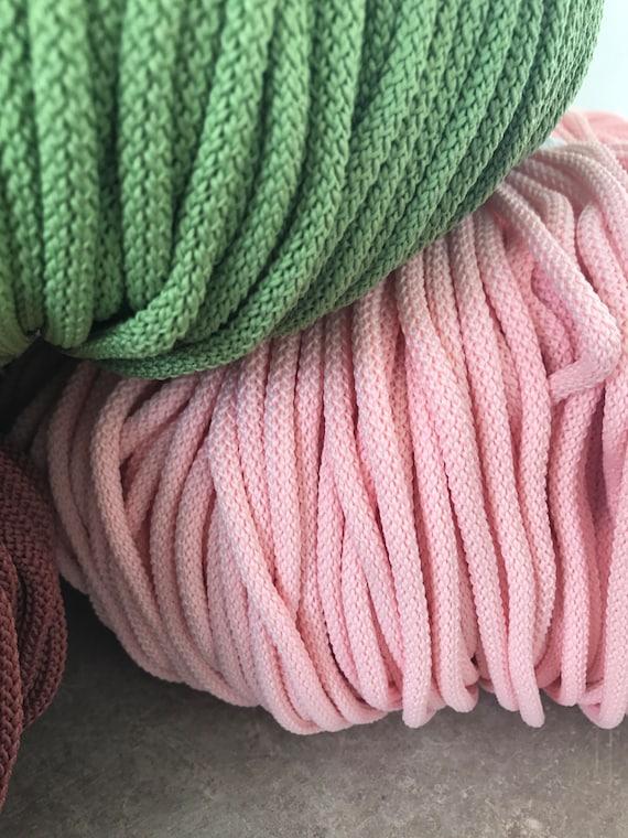 cordon de 6mm en macramé, cordon au crochet, tricot corde, corde, tricot corde de coton, gros fil, corde solide en nylon, cordon polyester macramé, fournitures en macramé, cordon dd37e9