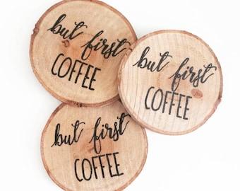 Coasters of wood