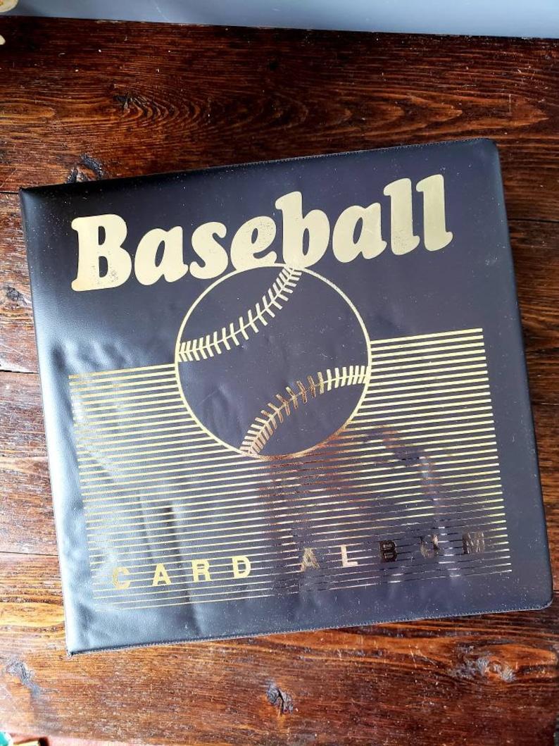 Baseball Card Collectors Starter Kit Binder Trading Cards Megacaps Vintage