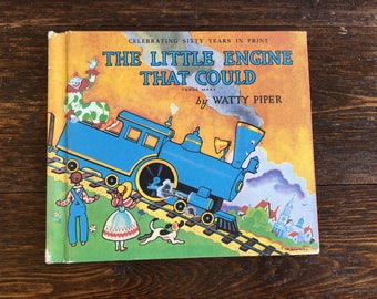 1990 The Little Engine That Could Weekly Reader by Watty Piper / vintage hardcover