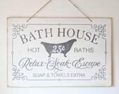 Bath House Sign | bath de...