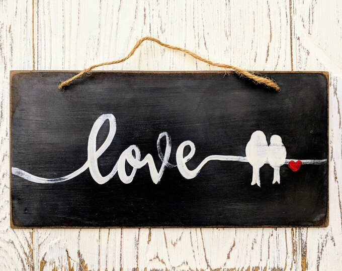 Featured listing image: Love | Lovebirds | Love with birds | wedding | Anniversary | engagement | gift ideas | shower gift | bridal shower |