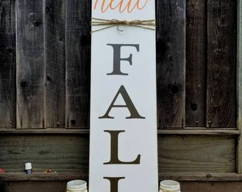Hello Fall | welcome | Porch Sign | autumn | fall | wood sign |