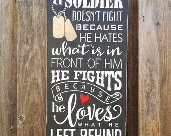 A Soldier fights | marines | navy | air force | coast guard | army | soldier | dog tags | troops | military | soldier |