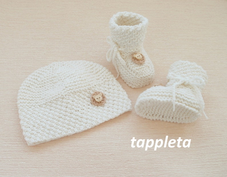 baby bear sweater baby clothes knit ivory baby boy outfit sweater set newborn knitted sweater summer coming home outfit hat booties