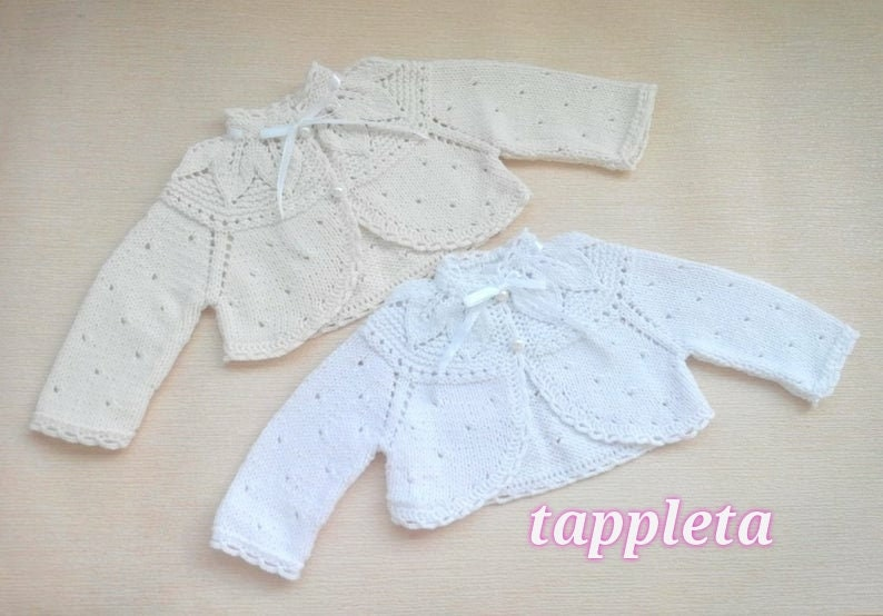 bolero baby baby girl baptism sweater christening cardigan image 1
