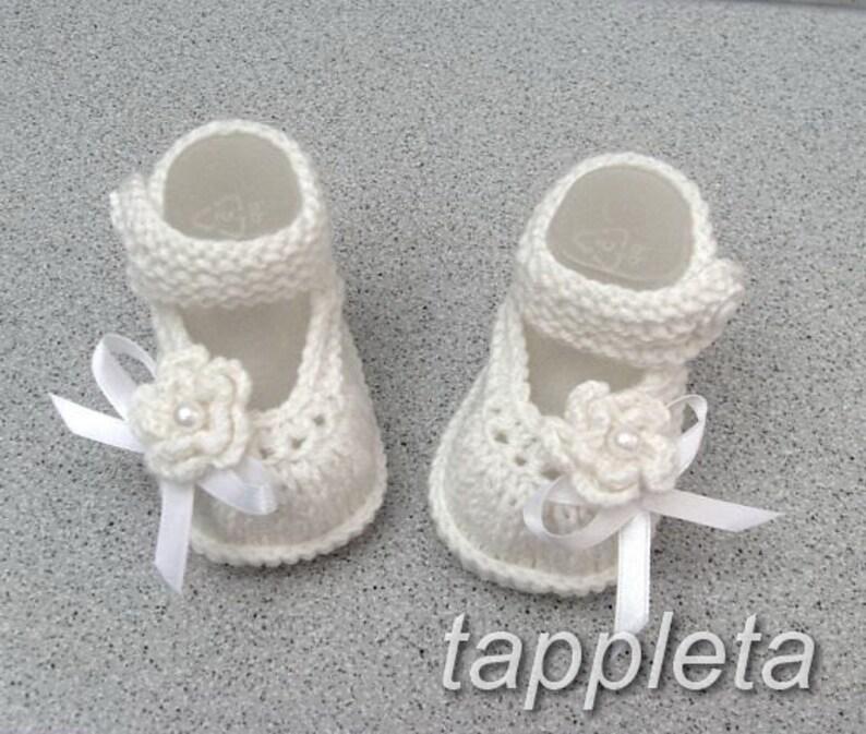 Scarpette di lana per bambina maglia bambino scarpe  2f591968206b