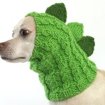 Dinosaur Dragon Small Dog Hat Snood Hood, Dragon Dog, Winter Dog Costume Holiday Christmas Photos, Hand Knit to Order Sizes for All Breeds