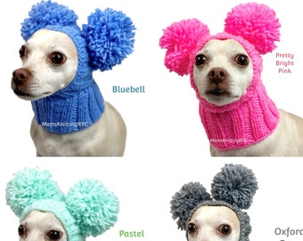 blue gray dog hat pet beanie blue dog hat pet hats Pet hat Fall color dog hat dog hats dog hat animals hat animal hats dog beanie