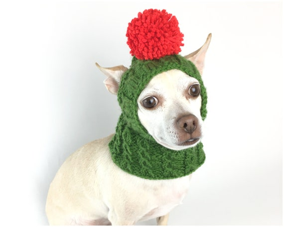 dog santa hat with ear holes