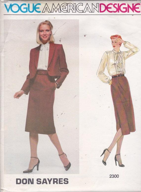Vogue 2300 Vintage patrón americano diseñador Don Sayres | Etsy