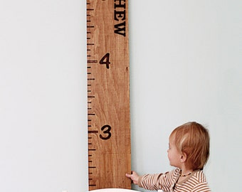 Personalized Wood Growth Chart - Engraved Ruler - Custom Growth Chart Ruler - Measuring Stick - Oversize Ruler - Custom Nursery Decor