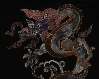 hand-painted size m jr's  dragon tee-shirt