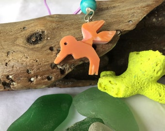 Carved Hummingbird Necklace