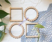 Tiny Loom Bundle - 4 tiny looms and 1 needle. Create mini weavings or handmade christmas ornaments