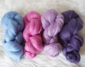 Pretty Merino Roving Bundle - wool top, weaving, spinning, felting