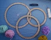 Large Round Weaving Looms - shape loom, weaving loom, weaving kit, circular weaving, round loom