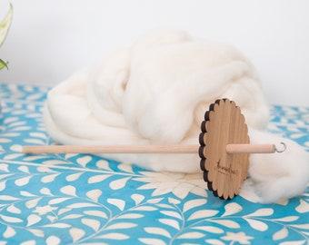 Bamboo Drop Spindle & Merino Roving