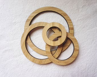 Bamboo Craft Hoops - set of 4 small hoops