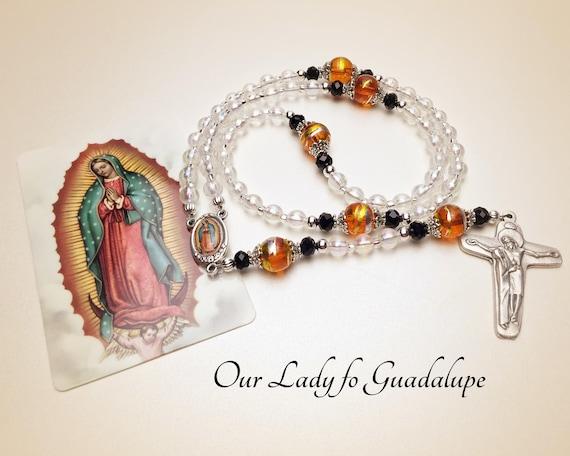 Guadalupe or Virgencita Plis Rosary.