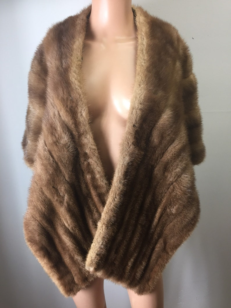ea2c82e9e0 Vintage 40s 50s Rich s Fur Salon Golden Tan Mink Stole