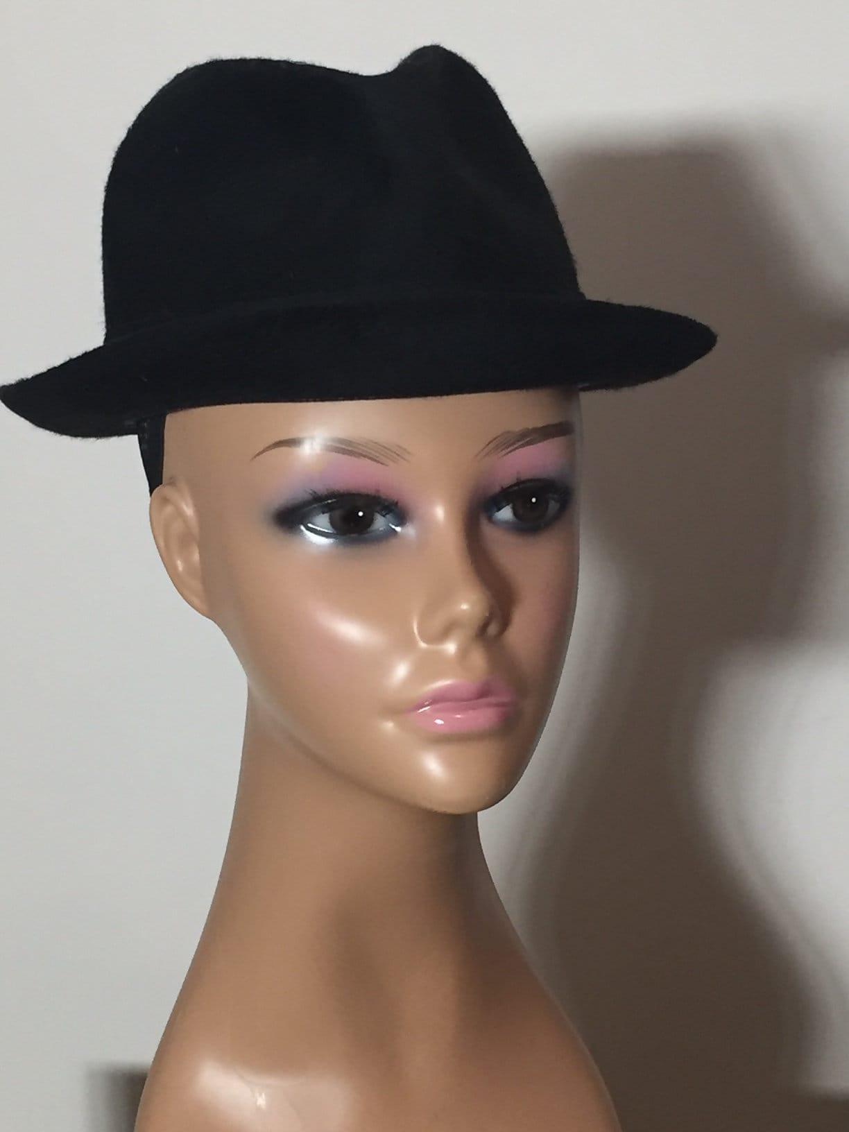 4492d44cba20d Vintage Black Fedora Hat Felt Churchill Ltd Muse's Atlanta | Etsy
