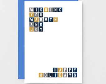 happy holidays card happy new year card non religious holiday card non denominational card blank sec0035a6