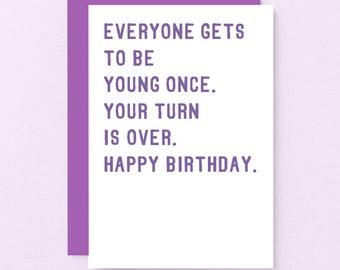 Sarcastic birthday | Etsy