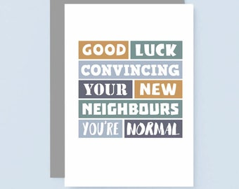 Funny New House Card Funny New Home Card New House   Etsy