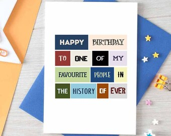 Birthday Card | Best Friend | Happy Birthday | Favourite Person | Cute | Sweet | For Boyfriend | Birthday Greetings | Blank | SE0053A6