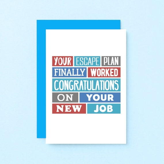 funny leaving card funny new job card coworker leaving  etsy