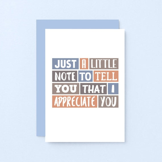 I Appreciate You Card For Wife | Thankful For You Husband | Friendship Card  | For Boyfriend | For Girlfriend | Just Because | SE0234A6
