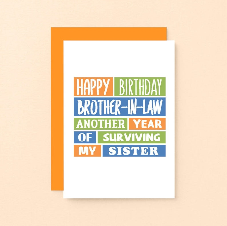 Funny Birthday Card For Brother In Law Happy