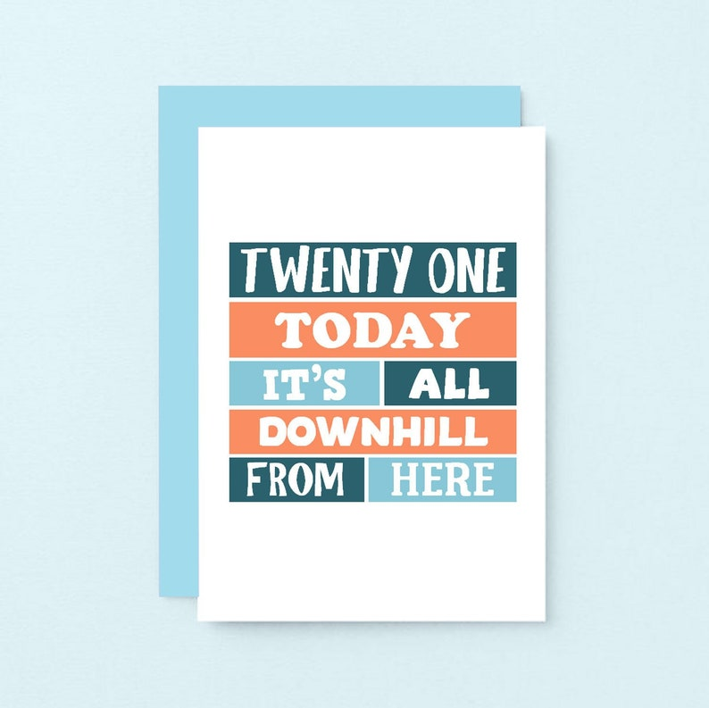 Happy Twenty First Birthday Card 21