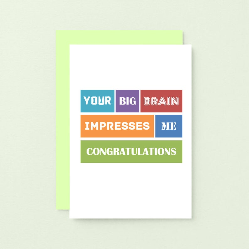 Passed Exams Proud Of You New Job Promotion Happy Graduation Card Well Done SE0100A6 Good Job Funny Congratulations Card