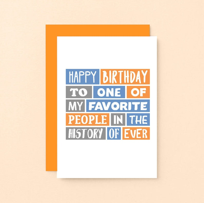 Cute Birthday Card For Friend Happy Favorite
