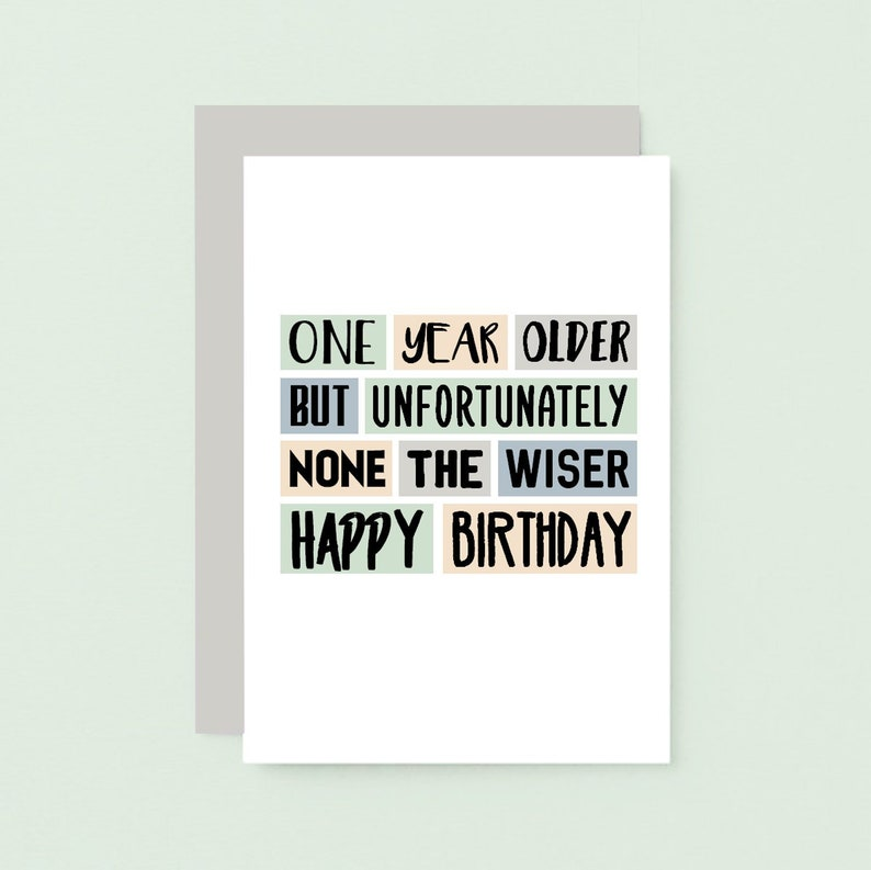 Funny Birthday Card For Friend Happy Brother