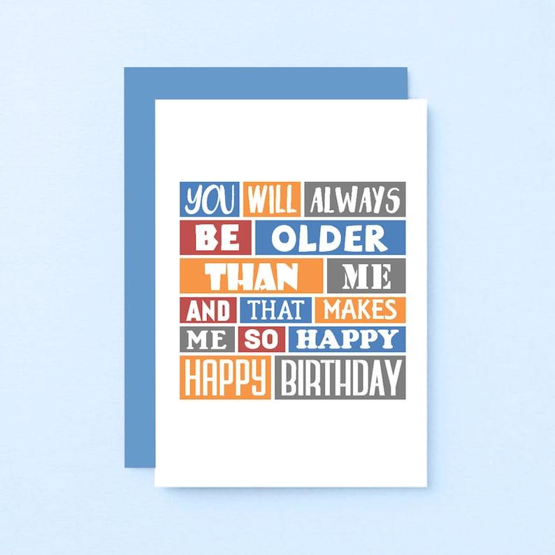 Funny Birthday Card For Friend Older Sister Older Brother