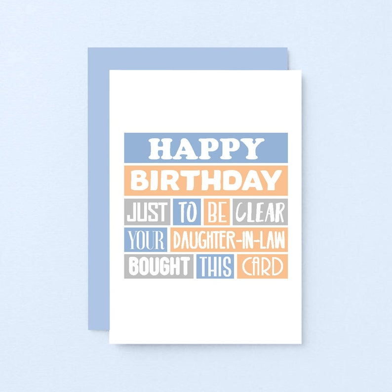 Funny Birthday Card For Father In Law