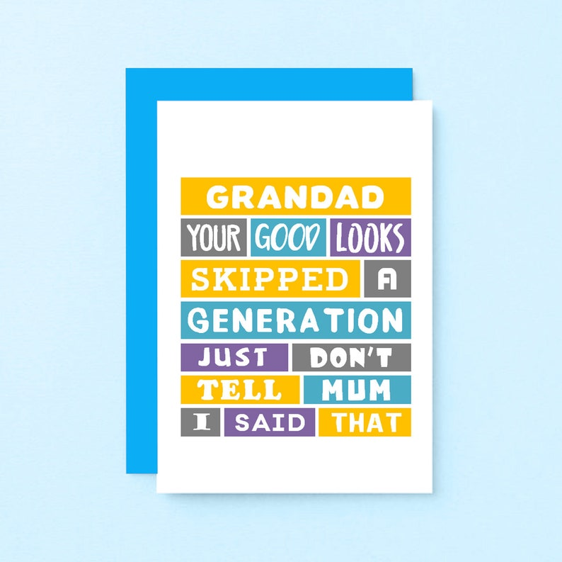 Funny Grandad Birthday Card Grandfather Fathers Day
