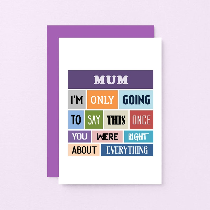 Funny Birthday Card For Mum