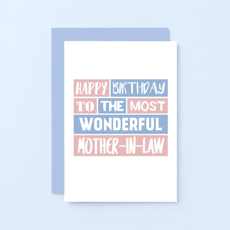 Mother In Law Birthday Card Happy Mum