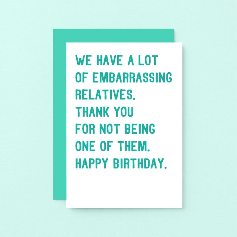 Funny Birthday Card For Cousin Uncle Happy