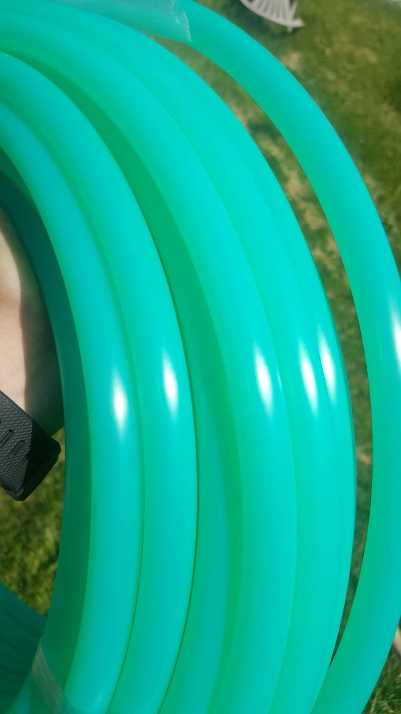 UV Green calcite polypro hula hooppractice hoopfully collapsible