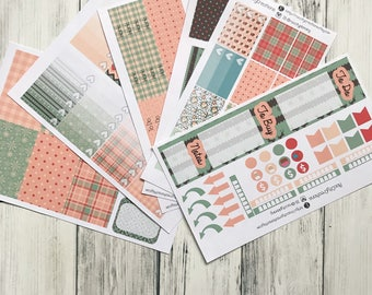 Winter Plaid Planner Sticker Kit