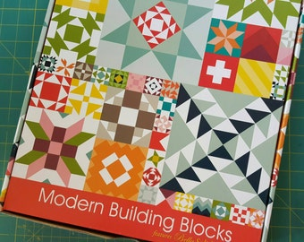 Modern Building Blocks Quilt Kit featuring Bella Solids by Moda