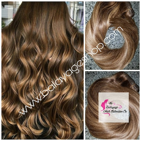 Hair Extensions Balayage Hair Remy Extensions Clip In Etsy