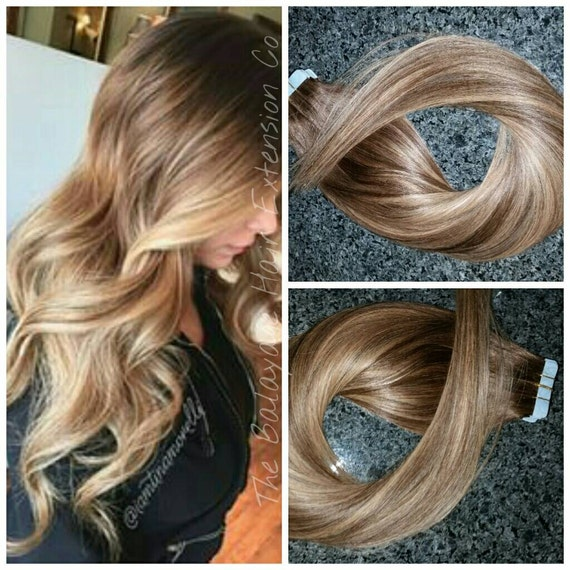 Balayage Remy Clip In Extensions 24 Inch Fantasy Hair Etsy