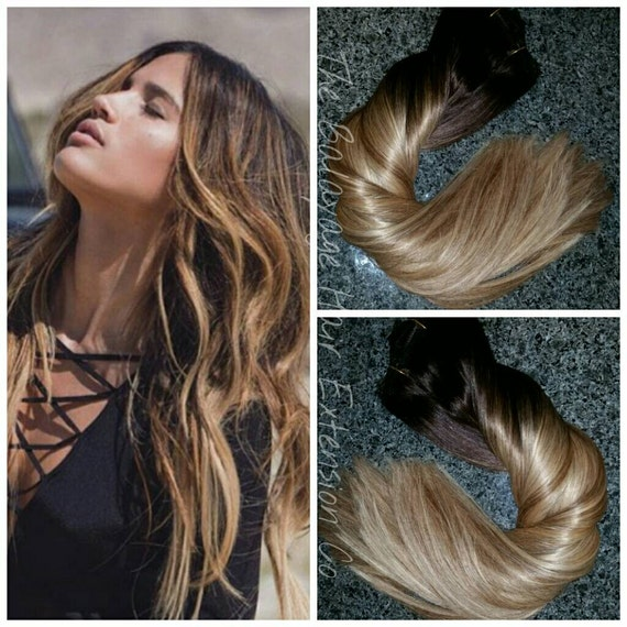 Balayage Remy Clip In Extensions 220 Grams Sale Etsy