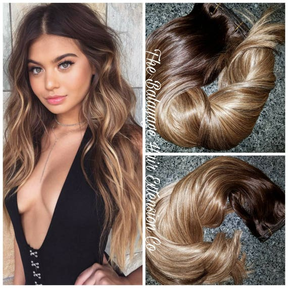 Balayage Remy Clip In Extensions 220 Grams 22 Inches Sale Etsy